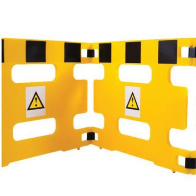 AddGards Handigard Safety Barriers - Black & Yellow - Set of 2