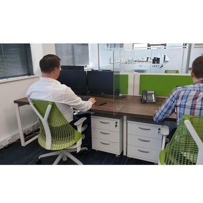 Perspex Self Distancing Office Desk Screens
