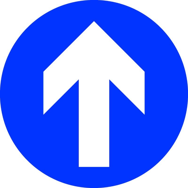Blue Arrow Sign Floor Stickers (Box of 10) /