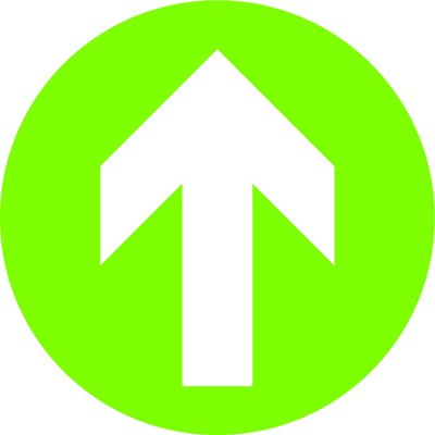 Green Arrow Sign Floor Stickers (Box of 10)