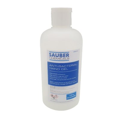 Sauber Chemicals Hand Sanitiser Gel 75% Alcohol (10 x 250ml)