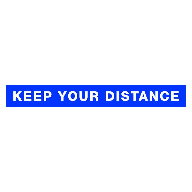 Keep Your Distance Staircase Stickers (Box of 5) /
