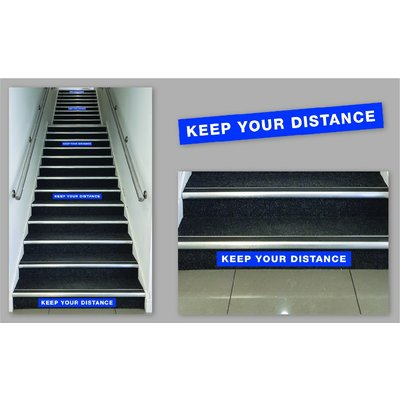 Keep Your Distance Staircase Stickers (Box of 5)
