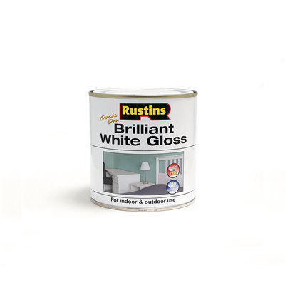 Rustins Quick Dry White Gloss Paint