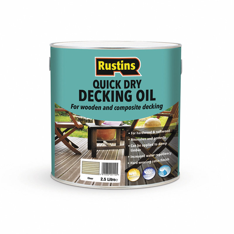 Rustins Quick Dry Decking Oil - Clear /