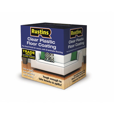 Rustins Plastic Floor Coating Trade Pack - 4L