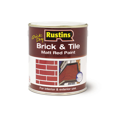 Rustins Brick & Tile Matt Red Paint