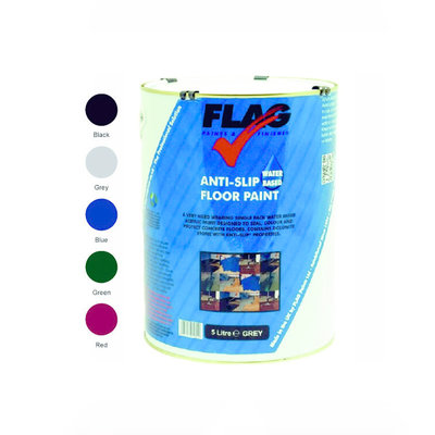 Flag Anti Slip Water Based Floor Paint 5L
