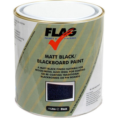 Flag Blackboard Paint - Matt Black