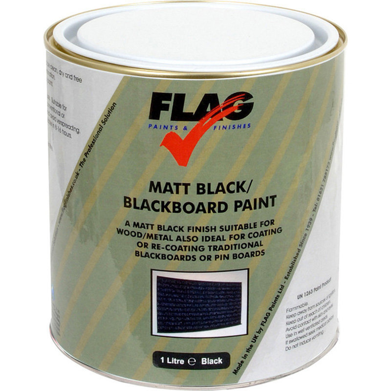 Flag Blackboard Paint - Matt Black /