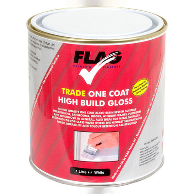 Flag Trade Gloss One Coat Paint - White