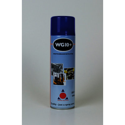 WG10+ Premium White Grease Spray (12 x 500ml Cans)