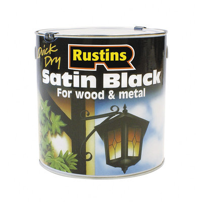Rustins Quick Dry Satin Black Paint 2.5L