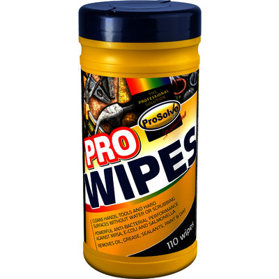 Prosolve Pro-Wipes Handwipe Tubs (10 x 110 Wipes)