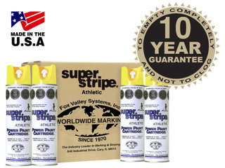 Fox Valley Athletic Super Stripe Line Marking Paint (12 x 500ml Cans)