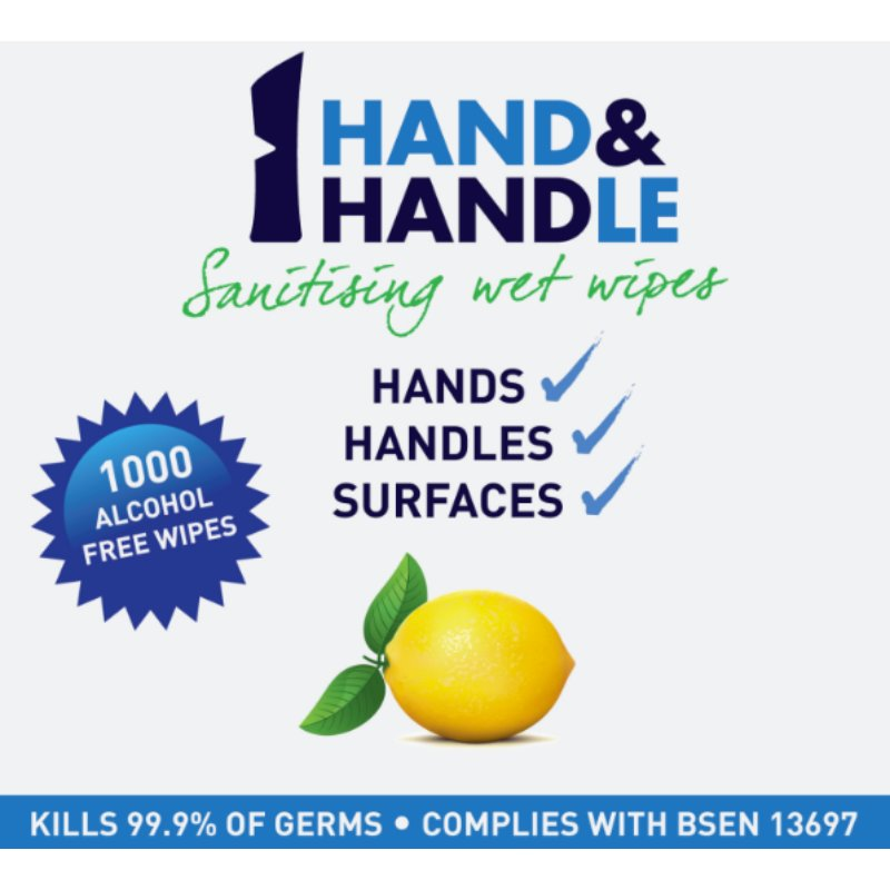 AddGards Hand & Handle Antibacterial Wet Wipes (3 x Rolls of 1000) /